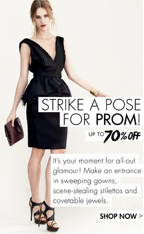 Prom up to 70% off