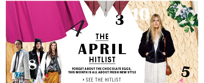 The April Hitlist - See the Hitlist