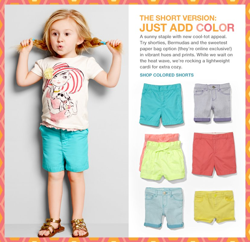 THE SHORT VERSION: JUST ADD COLOR | SHOP COLORED SHORTS