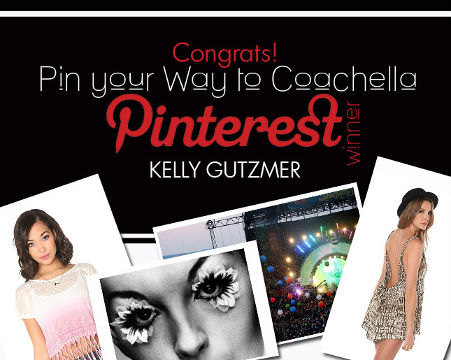 And the Winner of 'Pin Your Way to Coachella' is...