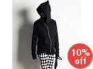 Hooded Asymmetric Zip-Up Jacket