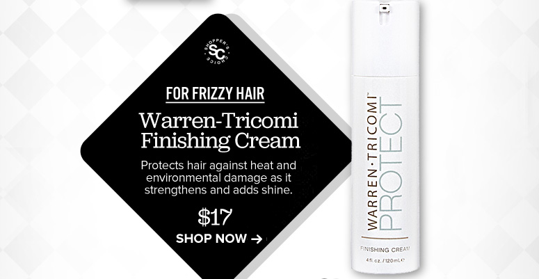 Warren-Tricomi Finishing Cream Protects hair against heat and environmental damage as it strengthens and adds shine. $17 Shop Now>>