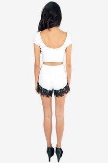 Rosette Trim Shorts $29