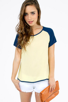Trimming Contrast Blouse $25