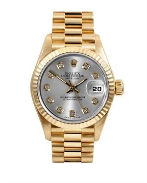 Rolex Datejust Watch with Diamond Dial