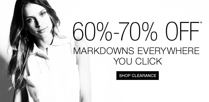 60%-70% Off* Markdowns Everywhere You Click