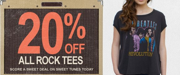 20% off all rock tees.