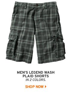 Legend Wash Plaid Shorts
