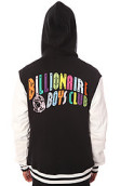<b>Billionaire Boys Club</b><br />The Spectrum Varsity Jacket in Black