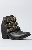 <b>Jeffrey Campbell</b><br />The Triplet Boot in Black Distressed