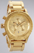 <b>Nixon</b><br />The 42-20 Chrono Watch in All Gold