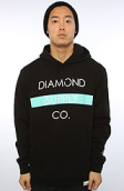 <b>Diamond Supply Co.</b><br />The Bar Hoody in Black