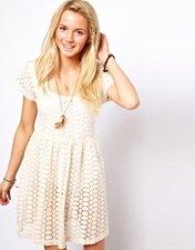 ASOS Crochet Smock Dress