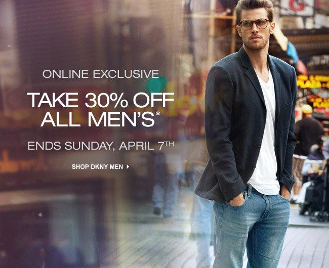 30% OFF MEN'S