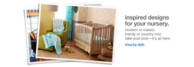 Inspired designs for your nursery.