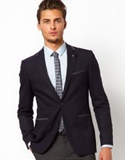 Peter Werth Two Button Jacket With Contrast Trim