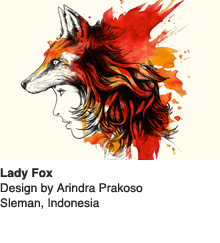 Lady Fox - Design by Arindra Prakoso / Sieman, Indonesia