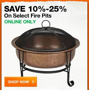 SAVE 10%-25% on select firepits