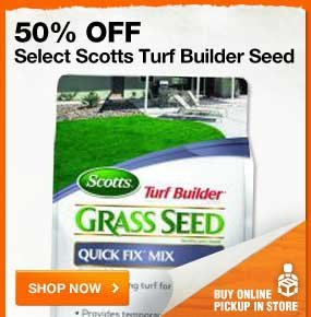 50% OFF Select Scotts Turf Builder Seed