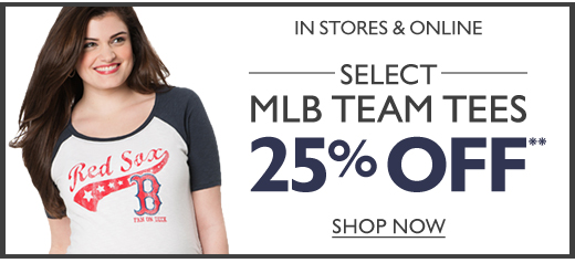 25% Off MLB Tees