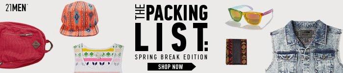 21MEN Packing List - Shop Now