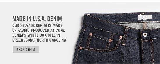 Made In U.S.A. Denim. Shop Now.