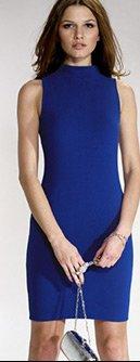 Turtle Neck Textured Bodycon Dress