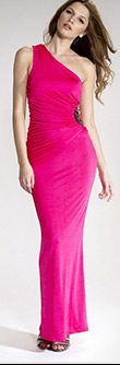 Slinky Maxi Side Embellished Dress
