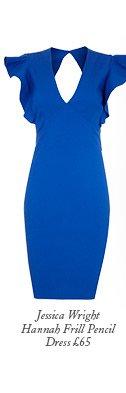 Jessica Wright Hannah Frill Pencil Dress