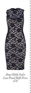 Amy Childs Sadie Lace Panel Shift Dress