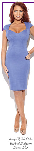 Amy Childs Orla Ribbed Bodycon Dress