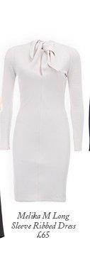 Melika M Long Sleeve Ribbed Dress
