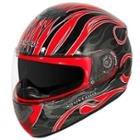 Hawk GLD-803 Infernal Series Glossy Black/Red Full Face Helmet