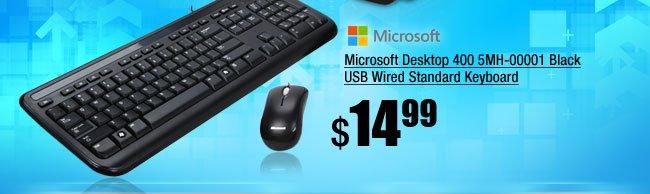 Microsoft Desktop 400 5MH-00001 Black USB Wired Standard Keyboard