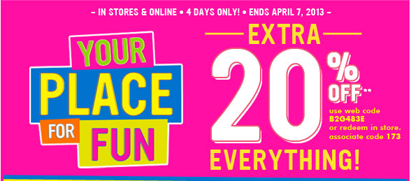 Extra 20% Off Everything!