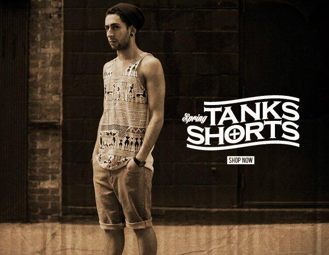 New Shorts and Tanks on Karmaloop