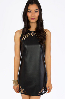 On The Edge Vegan Leather Dress $37