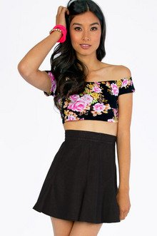 Flora Cropped Top $16