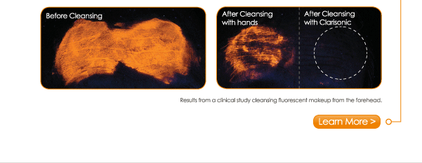 With a 100% satisfaction guarantee, you have nothing to lose in trying sonic cleansing, which cleanses 6x better than your hands alone! Learn More >