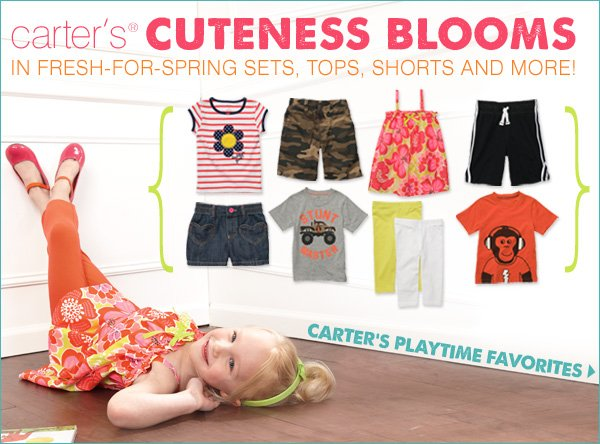carter's® cuteness blooms in fresh-for-spring sets, tops, shorts and more! Carter's playtime favorites