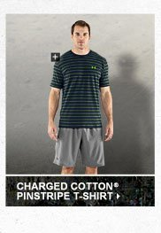 CHARGED COTTON® PINSTRIPE T-SHIRT