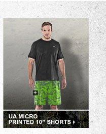 UA MICRO PRINTED 10 INCH SHORTS