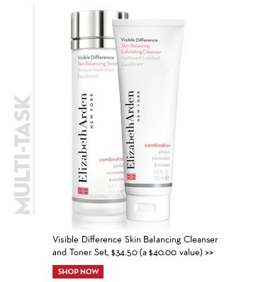 MULTI-TASK. Visible Difference Skin Balancing Cleanser and Toner Set, $34.50 (a $40.00 value). SHOP NOW.
