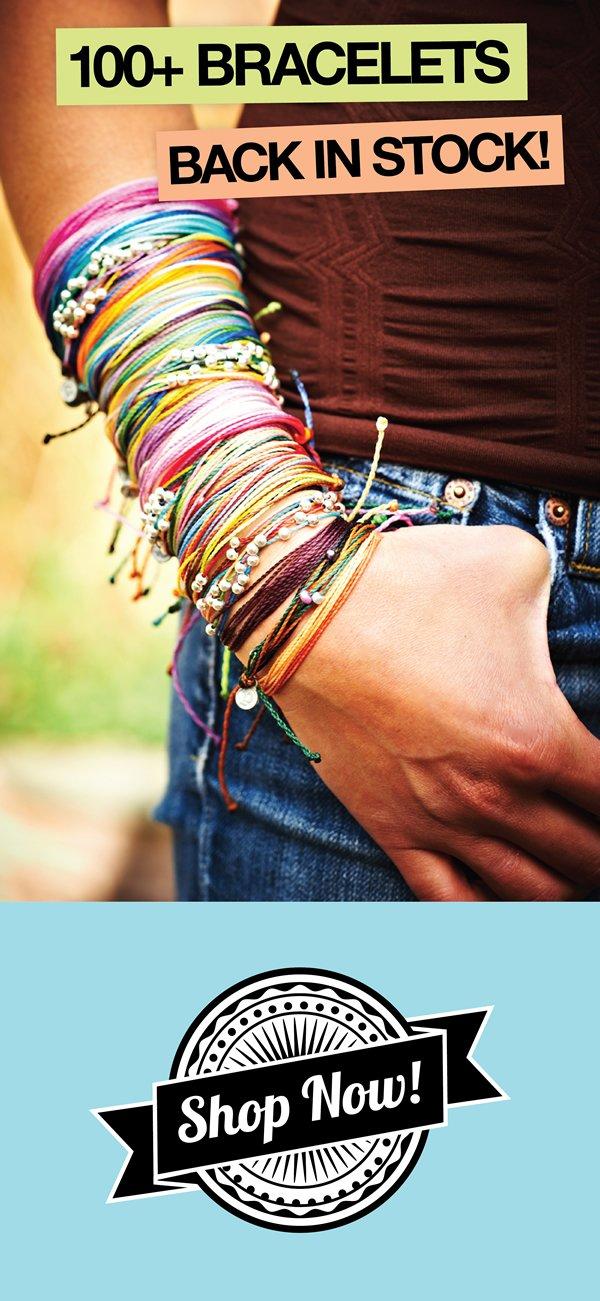 100+ Bracelets Back In Stock