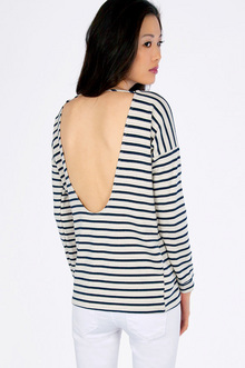 Skip Back Striped Top $30