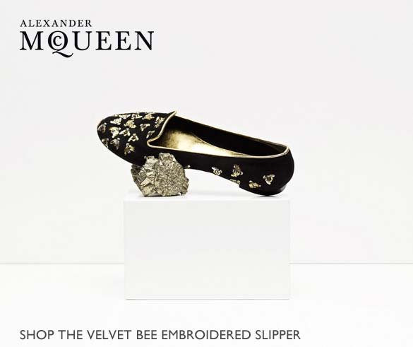 Shop The Velvet Bee Embroidered Slipper
