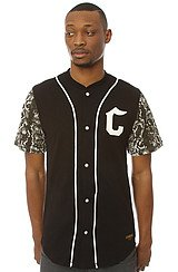 The Jungle Fever Baseball Jersey in Black Python