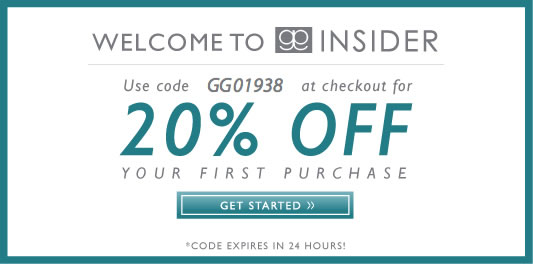 Welcome To GG Insider. Use code GG01938 at checkout for 20% OFF your first purchase. Click to get started. Code Expires in 24 hours!