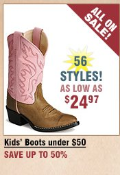 Shop All Kids' Boots under $50