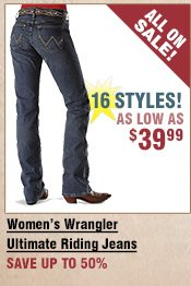 Shop All Women's Wrangler Ultimate Riding Jeans on Sale